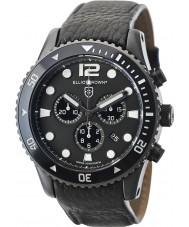 Elliot Brown 929-001-L01 Mens bloxworth sort læderrem kronograf ur