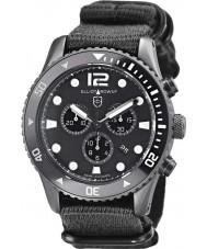 Elliot Brown 929-001-N02 Mens bloxworth sort stof rem kronograf ur