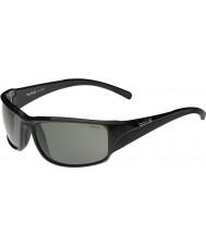 Bolle Keelback skinnende sorte polariserede TNS-solbriller
