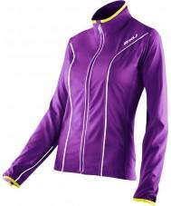 2XU WR2161A-PLQ-EYW-XS Ladies elite lilla lak og excel gule løb jakke - størrelse XS