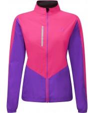 Ronhill RH-001473RH00179-12 Kvinders Vizion fluo pink lilla windlite jakke - størrelse uk 12 (m)