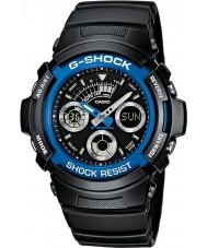 Casio AW-591-2AER Mens g-shock sort kronograf sportsur
