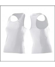 2XU Ladies aktive hvid tri singlet