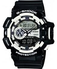 Casio GA-400-1AER Mens g-shock hvid sort kronograf ur