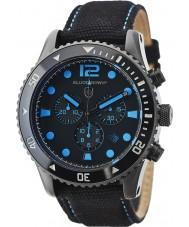 Elliot Brown 929-006-C02 Mens bloxworth sort stof kronograf ur