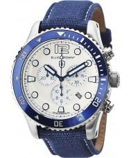 Elliot Brown 929-008-C01 Mens bloxworth blåt stof rem kronograf ur