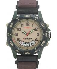 Timex T45181 Mens creme brun ekspedition combo ur