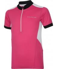Dare2b Kids hotfoot elektrisk pink jersey t-shirt