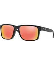 Oakley Oo9102-51 Holbrook mat sort - rubin iridium polariserede solbriller
