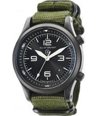 Elliot Brown 202-004-N01 Mens Canford grønt stof rem ur