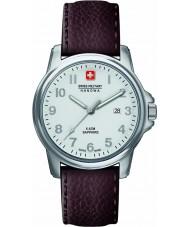 Swiss Military 6-4231-04-001 MENS swiss soldat prime brun læderrem ur