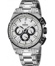 Festina F16968-1 Mens chrono cykel sølv stål kronograf ur