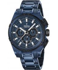 Festina F16973-1 Mens chrono cykel blå stål kronograf ur