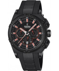 Festina F16971-4 Mens chrono cykel sort gummi kronograf ur