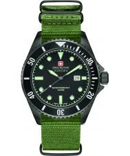 Swiss Military 6-4279-13-007 Mens søløve grøn nylon rem ur