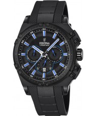 Festina F16971-2 Mens chrono cykel sort gummi kronograf ur