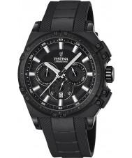Festina F16971-1 Mens chrono cykel sort gummi kronograf ur