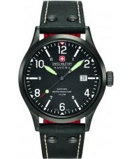 Swiss Military 6-4280-13-007-07 MENS undercover sort læderrem ur