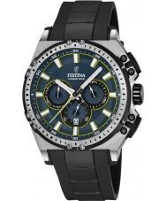 Festina F16970-3 Mens chrono cykel sort gummi kronograf ur