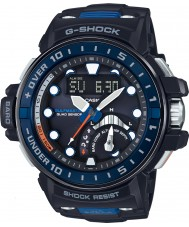 Casio GWN-Q1000-1AER Mens g-shock radiostyret sort resin rem ur
