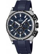 Festina F16970-2 Mens chrono cykel blå gummi kronograf ur