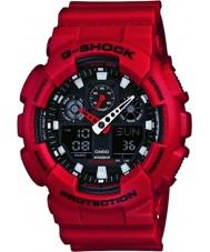 Casio GA-100B-4AER Mens g-shock verden tid rød resin rem ur