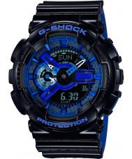 Casio GA-110LPA-1AER Mens g-shock verden tid sort blå resin rem ur