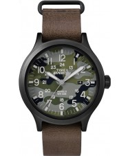 Timex TW4B06600 MENS spejder brun læderrem ur