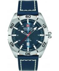Swiss Military 6-4282-04-003 Mens champ blå læderrem ur