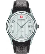 Swiss Military 6-4286-04-001 Mens navalus brun læderrem ur