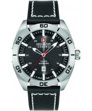 Swiss Military 6-4282-04-007 Mens champ sort læderrem ur