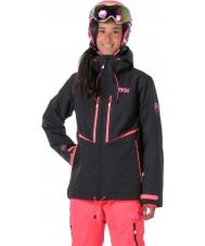 Picture WVT068-BLANP-XS Ladies EXA sort neonpink jakke - størrelse XS