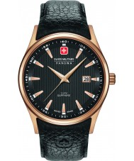 Swiss Military 6-4286-09-007 Mens navalus sort læderrem ur