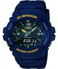 Casio G-100-2BVMUR Mens g-shock blå resin rem ur