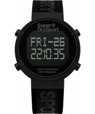Superdry SYG203BB Mens digi skridttæller sort silikone rem ur