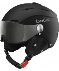 Bolle 31156 Backline visir soft sort og sølv skihjelm med sølv pistol og citron visir - 59-61cm