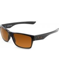 Oakley Oo9189-03 Two-Face poleret sort - mørk bronze solbriller