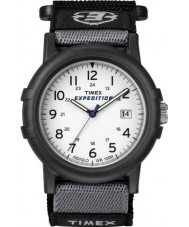 Timex T49713 Mens White sort camper ekspedition ur