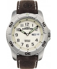 Timex T46681 Mens White brun ekspedition traditionelle ur