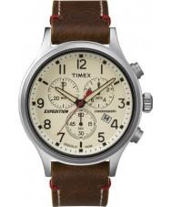 Timex TW4B04300 Mens ekspeditionen spejder brunt læder kronograf ur