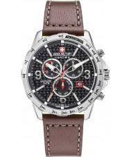 Swiss Military 6-4251-04-007 Mens ace chrono brun læderrem ur