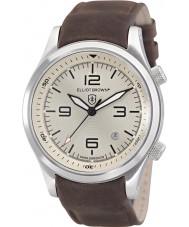 Elliot Brown 202-003-L08 Mens Canford chokolade brun læderrem ur