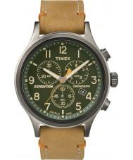 Timex TW4B04400 Mens ekspeditionen spejder tan læder kronograf ur