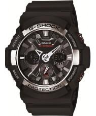 Casio GA-200-1AER Mens g-shock verden tid sort kronograf ur