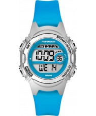 Timex TW5K96900 Ladies maraton midten størrelse blå resin rem kronograf ur